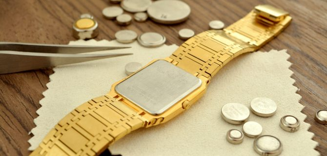 Gold watch battery replacement